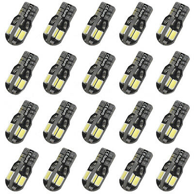 20 x T10 194 168 W5W 5730 8 LED SMD White Car Side Wedge Canbus Light Lamps Bulb