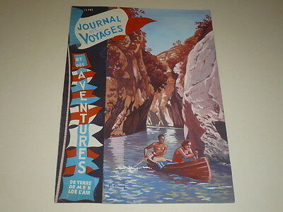[DRAWING PRESS BD] MARCEL THIERRY D VOYAGES Art Cover GOUACHE ORIGINAL Canoe