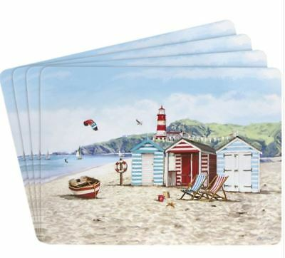 Sandy Bay Seaside Set Of 4 Placemats By Macneil Studio, Dining Table Place Mats