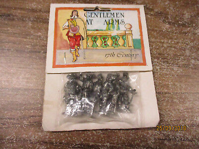 Gentlemen at Arms - 17th Century - winter reproductions UK 6 Metall Figuren 4 cm