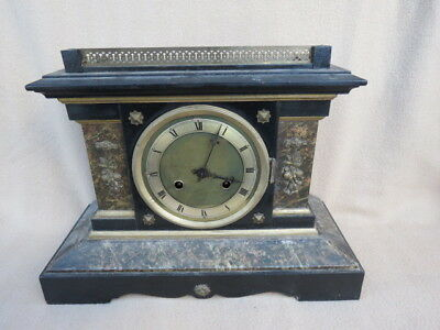 Antique Junghans 8 Day Striking Mantel Clock For Spares Or Repair