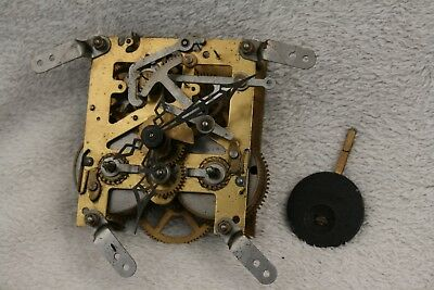 Vintage Enfield 8 Day Striking Clock Movement, Hands, And Pendulum