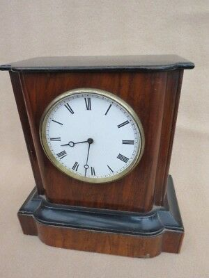ANTIQUE FRENCH c1890 EBONISED CLOCK FOR TLC