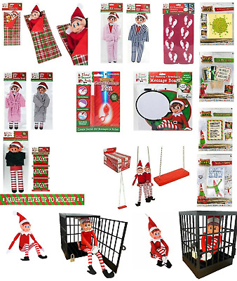 Naughty Elf Accessories Props Elves Behaving Badly Childrens Advent Shelf Fun
