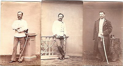 3 x CDV photo KuK Soldat - Wien 1860er