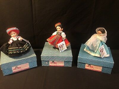 New In Box Madame Alexander Doll Lot Of 3 Czechoslovakia, India, & Finland