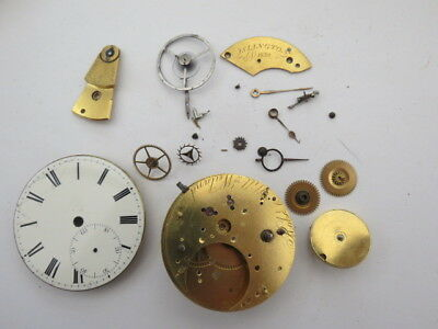 Antique Fusee Pocket Watch Movement For Restoration