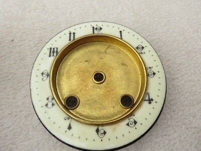 Antique French Clock Enamel Chapter Ring