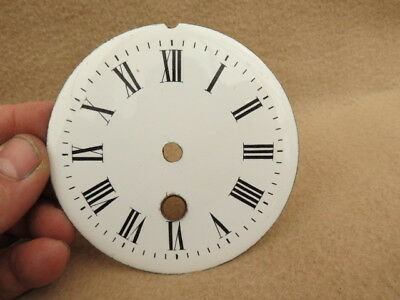 Antique French 9.6 Cm White Enamel Clock Dial