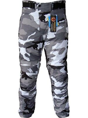 AMG Motorcycle Camouflage Waterproof Motorbike Motocross Textile Armour Trouser