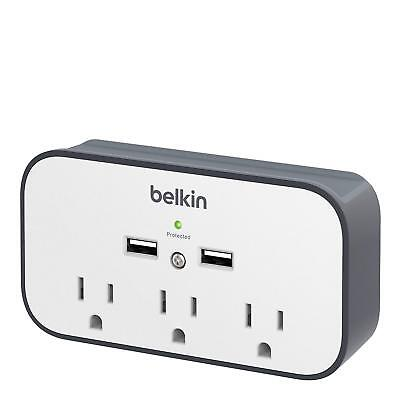 Belkin BSV300ttCW 3-Outlet Wall Mount Cradle with Dual 2.4 AMP Charging