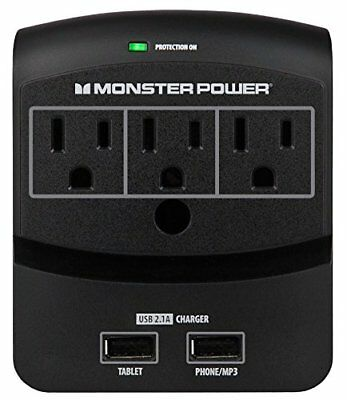 Monster Power Core 350 USB wall tap outlet with 2 USB charging with Fireproof Te