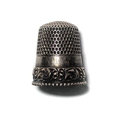 Antique Gold Sterling Silver Thimble by Goldsmith Stern Co