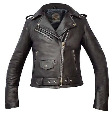 Amg New Ladies Leather Motorcycle Motorbike Ce Armour Tested Biker Jackets