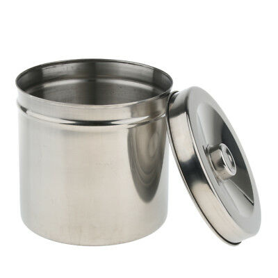 Stainless Steel Tattoo Cotton Disinfection Container Tank Alcohol Box 14cm