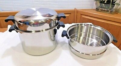 AMWAY QUEEN 8QT Roaster Stock Pot Steamer Dome Lid 18 8 Stainless Steel Waterles