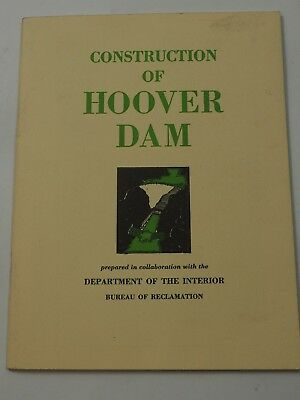 Vintage Construction of Hoover Dam Department of the Interior booklet 1950
