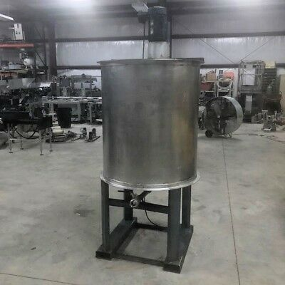 200 Gallon Vertical Stainless Steel Tank with open Top and agitation