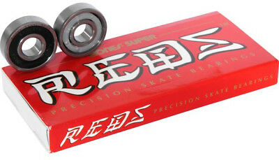 BONES BEARINGS Skate Kugellager SUPER REDS 8er Set Kugellager