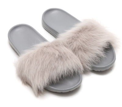 218a14421f6 UGG AUSTRALIA ROYALE Seal Fur Slide Slipper Women's Sizes 6-11/36-42 NEW!!!