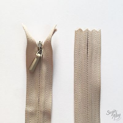 YKK Closed End Invisible Zip - Colour 572 Natural Beige ZF10 - 20cm 8 Inch