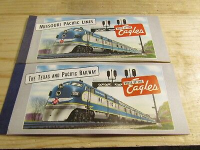Missouri Pacific Lines & The Texas and Pacific Railroad Ticket Books NOS 1950s