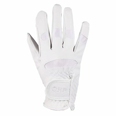 Qhp Multi Unisex Gloves Everyday Riding Glove - White All Sizes