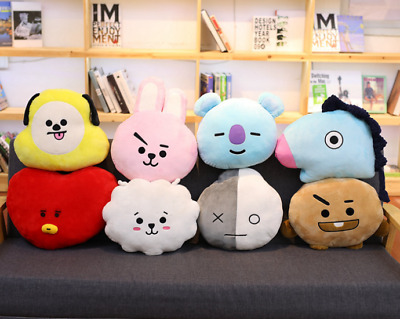 Brand New BTS BT21 TATA SHOOKY RJ Plush Toy SUGA COOKY Pillow Doll Sofa Cushion