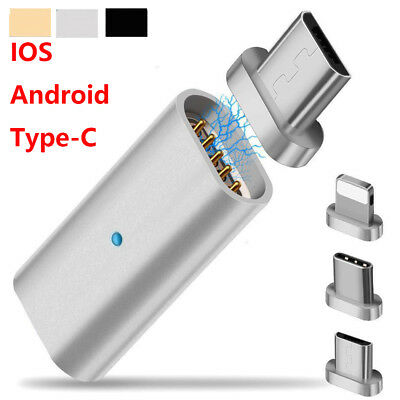Lightning Micro USB Type C Magnetic Sync USB Charging Adapter for Phones Tablets