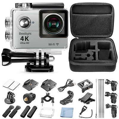 Bestlight Sport Action Camera 12MP 4K WIFI 2-Inch LCD Display with Accessories