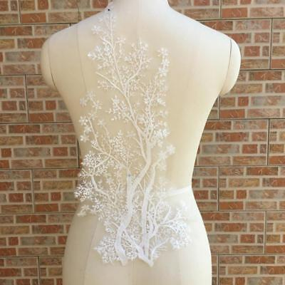 Lace Applique Trim Embroidery Sewing Motif Tulle DIY Wedding Bridal Dress Crafts