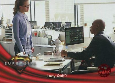 Supergirl Season 1 Red Foil Base Card #55 Lucy Quit?