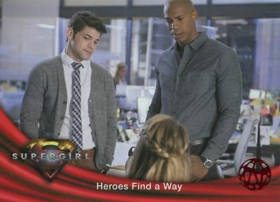 Supergirl Season 1 Red Foil Base Card #32 Heroes Find A Way