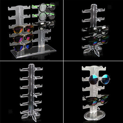 Clear Sunglasses Holder Rack Glasses Show Display Counter Stand Organizers