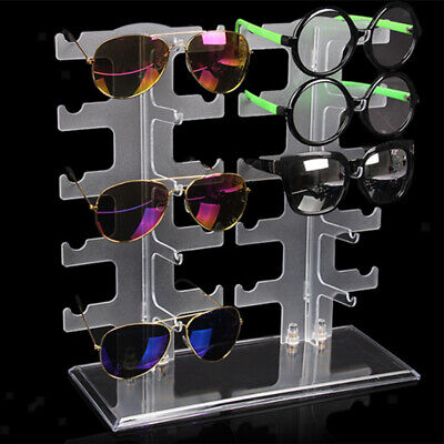 Clear Sunglasses Holder Rack Glasses Show Display Counter Stand Organizer