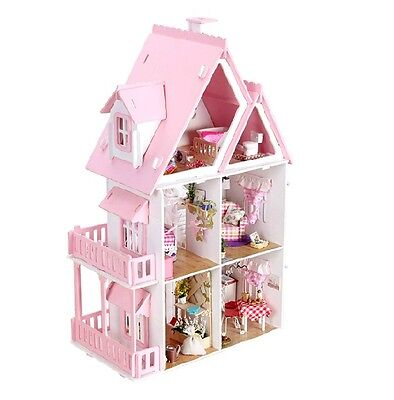 DIY Wooden House Big Children's Self-assembled Toy Dream Mini House Holiday Gift