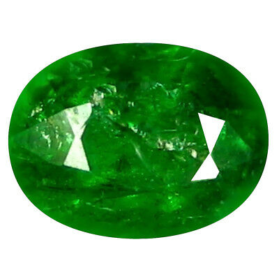 0,73 Ct Excellent Coupe Ovale (6 X 5 mm) Russe Tsavorite Grenade Libre
