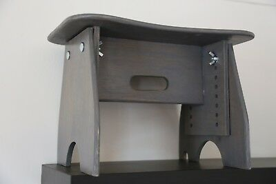 Hand Crafted Wooden Light Weight Adjustable Portable Music Benches (GRAY)