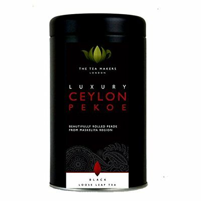 The Tea Makers of London Luxury Ceylon Pekoe Loose Leaf Black Tea (125g Caddy)
