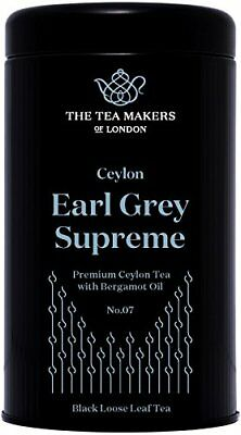 The Tea Makers of London Luxury Supreme Earl Grey Black Loose Leaf (125g Caddy)