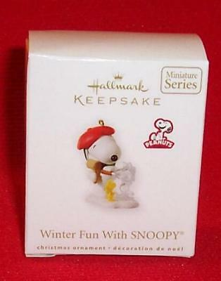 Hallmark 2010 WINTER FUN WITH SNOOPY Miniature Ornament Series #13 Mini Peanuts