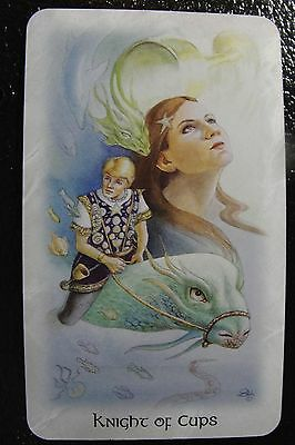 Knight of Cups Celtic Dragon Tarot Single Replacement Card Excellent Condition