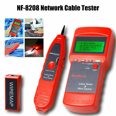 Network Cable tester Ethernet Cable Tester Network Tracker NF-8208 LCD Display