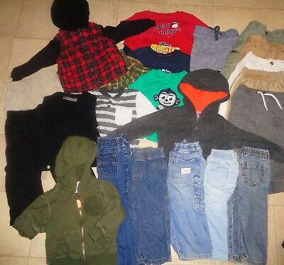 470f9a66b6e6 Huge Lot Of Boys Clothes Winter Kenneth Cole Jeans Jackets Outfits Size 18-24  Mo