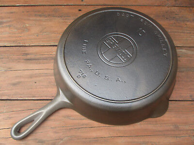"""""""fully Restored!"""" Griswold #10 Large Block Logo Cast Iron Skillet With Heat Ring"""
