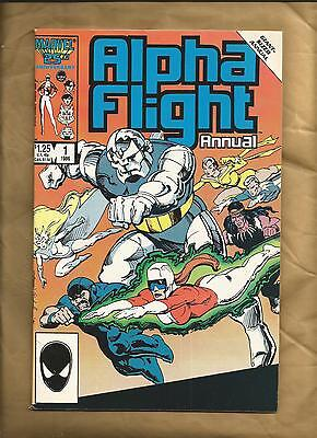 Alpha Flight Annual #1 fn+ 1986 Marvel Comics scarce American comic US Comics