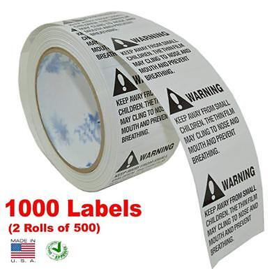 iMBAPrice® Suffocation Warning Labels (Made in USA) 1000 Labels (2 Rolls of 500