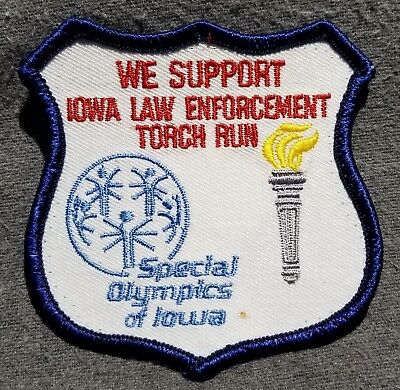 LMH Patch SPECIAL OLYMPICS Iowa LAW ENFORCEMENT Torch Run Police Sheriff Support