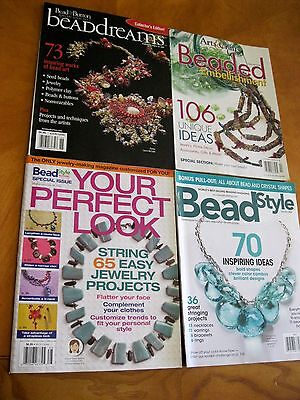 beads  Beading arts and crafts Jewelry lot 4  back issues magazines
