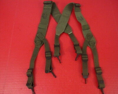 WWII Era US Army M1944 Field Pack Suspenders Complete - Dated 1945 - Unissued #1